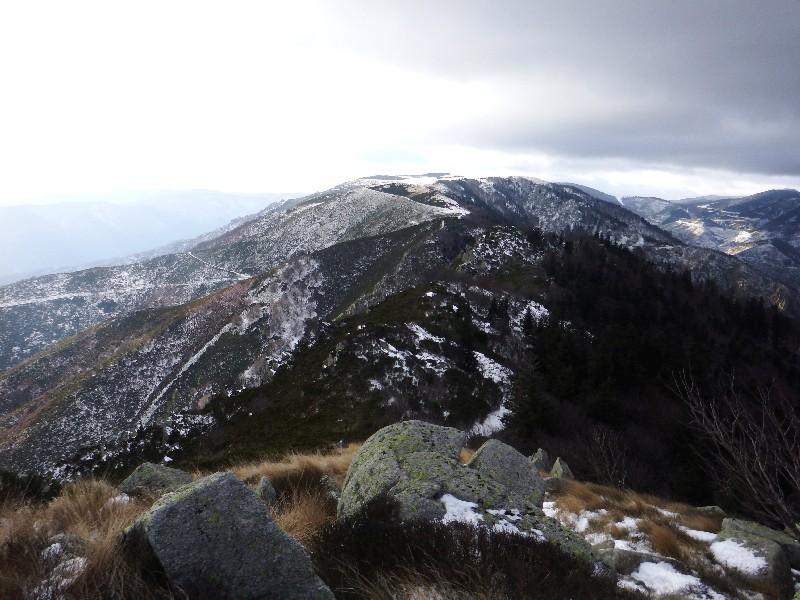 Le Mont Aigü et le plateau du Tanargue