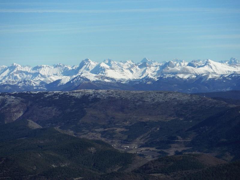 La montagne D'Angèle depuis Bouvières